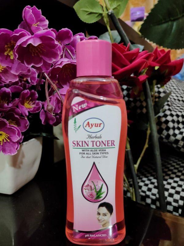 Ayur Herbal Skin Toner With Aloe Vera For All Skin Types