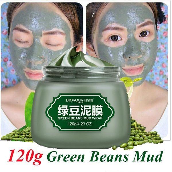 Bioaqua Green Bean Mud Wrap Facial Mask Moisture Oil Control To Acne Deep Cleansing Mask Remove Blackheads - Zac