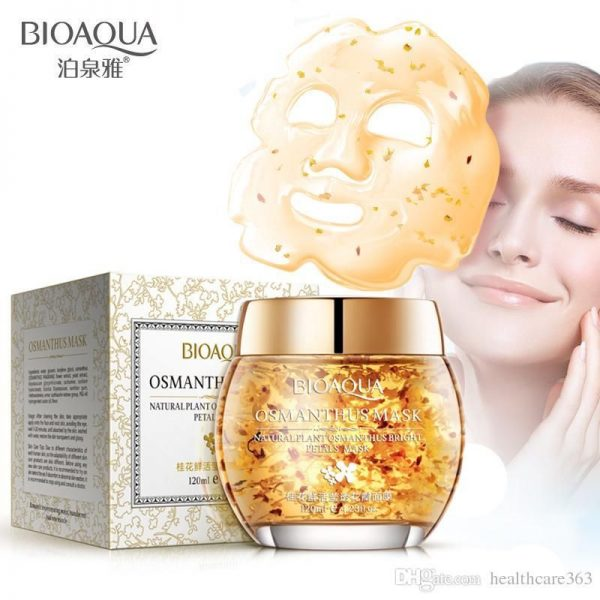 Bioaqua Mask Plant Osmanthus Bright Petals Clay Sleeping Moist Acne Beauty Face Mask Facial Mask Face Care Treatment Facial