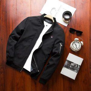 Black Stylish Winter Jacket For Men