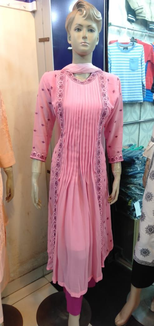 Indian Latest Gown Style 3pc -