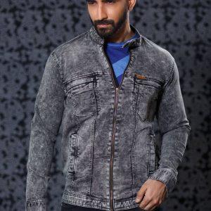 Men's Knit Denim Jacket
