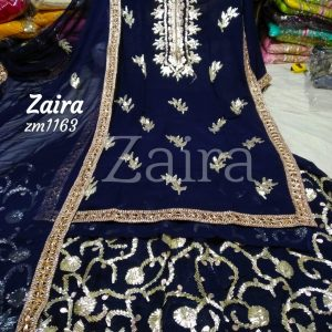 Zaira Georgette Trendy Semistitched 3pcs