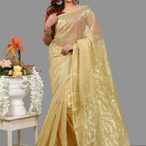 Silk Jamdani Saree for Woman